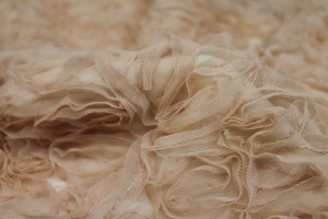 New Nude Tulle Applique Flowers