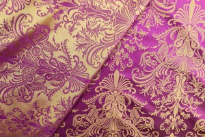 Rococo Brocade - Pink/Yellow
