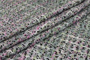 Chunky Multi Colour Chenille - Grey/Green/Pink