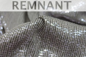 REMNANT - Micro Sequin On Silk Chiffon - Mauve on Mushroom - 2.3-2.4m piece