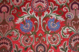 Heavy Banaras Brocade - Red/Multi
