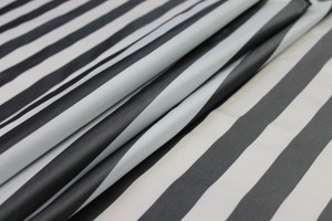 Stripe Acetate Taffeta - Black/White