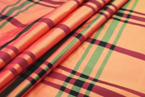 Tartan Acetate Taffeta - Orange