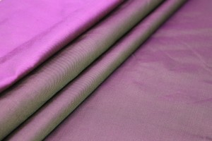 Silk Twill Backed Dupion - Magenta shot Gold