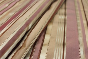 Satin Stripe Taffeta - Rust and Gold