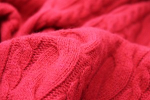 Wool Cable Knit - Red