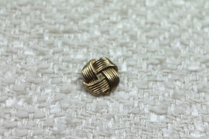 Metal Knot Button - Large Gold