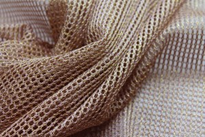 Metallic Mesh Fabric - Copper
