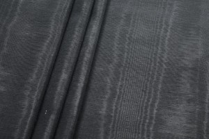 Cotton Viscose Grosgrain - Black Moiré