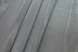 Cotton Viscose Grosgrain - Grey Moiré