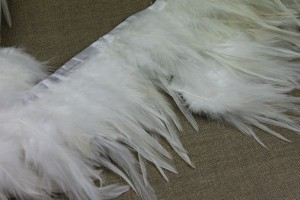 Feather Trim - Ivory