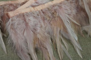 Feather Trim - Blush Pink