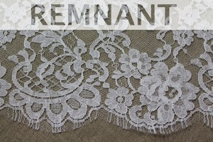 REMNANT - Ivory Leavers Lace - Rose Cluster Design - 0.65m piece