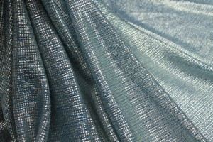 Sheer Shimmer Jersey - Dusty Blue Silver