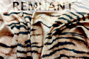REMNANT - Tiger Print Lightweight Poly - 1.05m piece