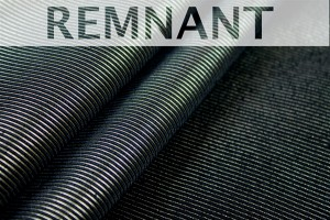 REMNANT - Viscose Grosgrain - Black and Gold - 0.3-0.4m piece