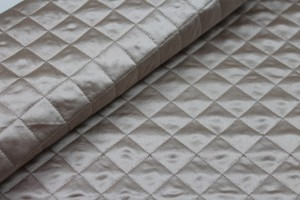 Quilted Silk Satin - Oyster