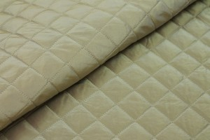 Quilted Silk Taffeta - Pale Gold