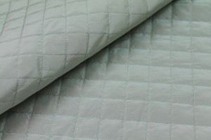 Quilted Silk Taffeta - Pale Blue