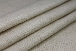 Raw Silk Large Thread Weave Matka - Natural Ivory