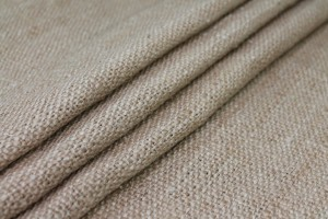 "Raw Silk ""Hessian Weave"" Matka - Natural/Brown"