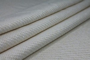"Raw Silk ""Basket Weave"" Matka - Ivory"
