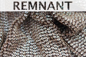 REMNANT - Small Oval Holographic Sequin On Silk Chiffon - 1.25m piece
