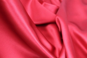 Silk Satin Backed Crepe - Italian Red