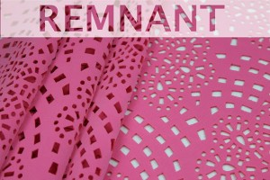 REMNANT - Perforated Scuba Jersey - Laser Cut Snowflake - Pale Pink - 0.35m piece