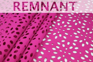 REMNANT - Perforated Scuba Jersey - Laser Cut - Pink - 2.1m piece
