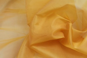 Silk Organza - Egg Yolk Yellow