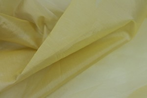 Silk Organza - Yellow Shot Ivory