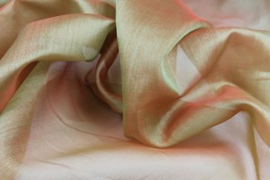 Silk Organza - Green Shot Orange