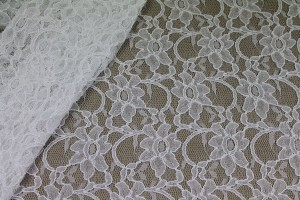 Corded Lace - White