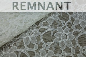 REMNANT - Corded Lace - Ivory - 1m piece