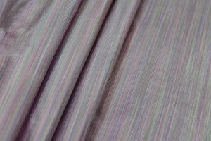 Striped Silk Dupion - Multi Pastels