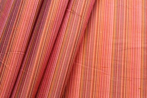 Multi Striped Silk Dupion - Orange