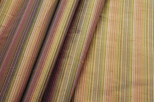 Multi Striped Silk Dupion - Orange Yellow