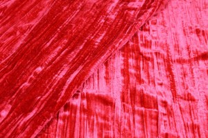 Crushed Viscose Velvet - Red
