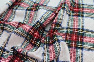 Wool Tartan - Off White, Red, Blue, Green